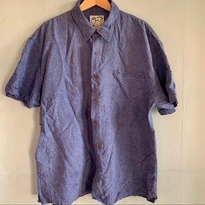 Big Dogs 100% Silk Jacquard Hawaiian aloha shirt